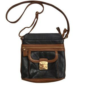 EMMA FOX NEW YORK 2-Tone Leather Crossbody Bag